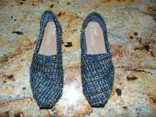 NEW TOMS Women's Boucle Tweed Slip On Fabric Loafer Flat Shoes Size 6.5