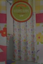 "NEW Blossoms & Blooms Fabric Shower Curtain Spring Floral Easter 70"" x 70"""