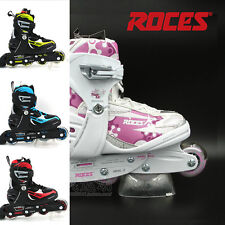 Roces Flash 5.0 Girls/Kids Inline Roller Skates Adjustable Pink/White US 4-7