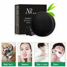Handmade Bamboo Charcoal Soap Deep Clear Blackhead Removal Whitening Oil-control