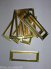 lot 10 porte etiquette laiton meuble metier industriel deco loft 8,2cm X 2,9 cm
