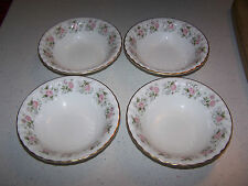 SET OF 4 BEAUTIFUL MINTON BONE CHINA SPRING BOUQUET 6 1/2'' CEREAL / SOUP BOWL