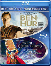 Ben Hur/Ten Commandments (Blu-ray Disc, 2013, 4-Disc Set) Charlton Heston NEW