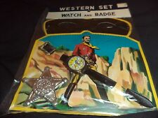 Old 1950's WESTERN Toy SET - Watch Badge & Lone Ranger style Mask