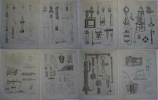 1790s ENGRAVINGS OF PNEUMATICS MECHANICAL MOTION COMPRESSORS TECHNOLOGY HISTORY