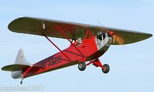 """Model Airplane Plans (RC): LUTON MINOR 1/6 Scale 50"""" for .15-.23 Engine"""