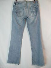 Guess Dare Devil BootCut Size 27 Destructed Stretch Slim Bootcut Jeans Womens 5