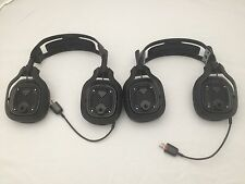 Lot (2) Astro Major League Gaming  A40 Headset XBox 1, PS3,Mac/PC Multi-Platform