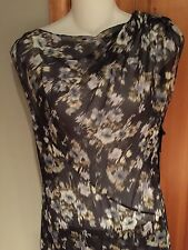 VERA WANG COLLECTION SILK ORGANZA FLOWER PRINT SLEEVELESS GOWN NEW SIZE  4  38