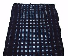 "Mud Cloth Authentic African Indigo Hand Spun Fabric 60""x 42"" Bògòlanfini Mali"