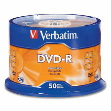 50 DVD -R VERBATIM vergini vuoti 16X Advanced Azo dvdr 4.7 GB ORIGINALI 100%