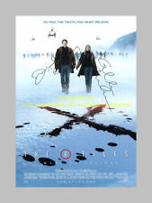 "X FILES : I WANT TO BELIEVE CAST SIGNED POSTER 12""X8"""