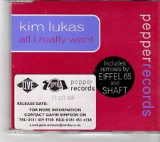(FK835) Kim Lukas, All I Really Want - 1999 CD