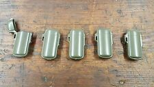 LOT OF 5  Army Green Bic Mini Plastic Cases.  LIGHTER ACCESSORIES
