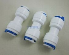 "3pcs 3/8"" Tube to 3/8"" Tube Push Fit Quick Straight  Connect for Reverse Osmosis"