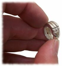 925 Sterling Silver Mini Atlantis Ring Bead Atlante - Children Kids Charm