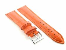 22MM LEATHER WATCH STRAP BAND FOR ULYSSE NARDIN ORANGE