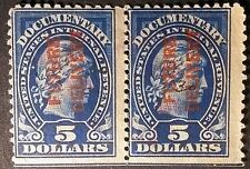 US #RC13  FUTURE DELIVERY  REVENUE STAMP   USED HRZ PAIR