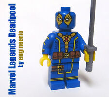 LEGO Custom -- Legends Deadpool v3 -- Blue Marvel super heroes mini figure