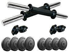 Protoner 12 Kg Rubber Dumbells Sets With 2 Rods ,  12 Kg Weight & Gloves