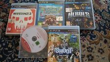 Lotto due da 5 titoli per Playstation 3 PS3 Usati