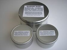 SURVIVAL / EMERGENCY CANDLES - VALUE PACK - 1 - 300 HOUR & 2 - 100 HOUR CANDLES