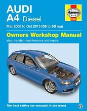 Audi A4 2.0TDi Diesel Mar 2008 - Oct 2015 Haynes Manual 6300 NEW