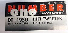 Monacor DT-19SU Tweeter Hifi-Hochtöner 10.1970
