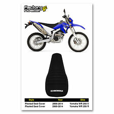2008-2014 YAMAHA WR 250 X & R All Black PLEATED SEAT COVER BY Enjoy MFG