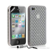 étui coque souple tressée transparent pour Apple Iphone 4/4S blanc + mini t +