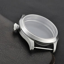 45mm Sapphire Glass watch Case Fit  ETA UNITAS 6497/6498 Movement