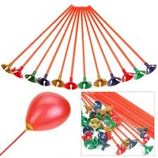 100PCS New Balloons Sticks and Multicolor Cup For Wedding Supplies Party CAOZ