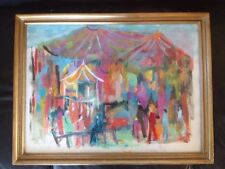 Original Acrylic On Paper Painting By Gene Walch. Vibrantly Beautiful. Framed.