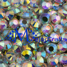500x Crystal AB 4mm ss16 Glass Flat Back DMC Hotfix Iron-on Rhinestones Crystals
