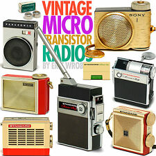 Vintage MICRO transistor radios book Sony Standard Micronic Ruby NEC much more!