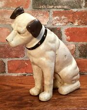 "RCA Victor Phonograph Cast Iron 10"" Nipper Dog Vintage Penny Coin Bank"