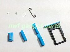 New (BLUE) Sim Tray,Power,Mute,Volume Buttons+Contacts+Retainer for iPhone 5C US