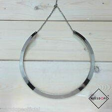 NEW Silver Cleopatra Round Necklace Choker Ladies Chain Boho Womens Party Bib UK