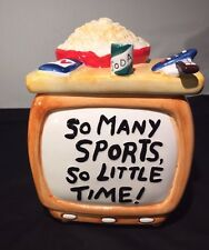 """ENESCO """"So Many Sports So LIttle Time"""" TV Cookie Jar - Television Cookie Jar"""