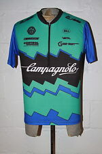 VTG Campagnolo Teal Blue Grip Shift Bell Mountain Bike Cycling Jersey