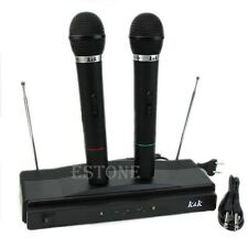 Hot Professional Wireless Microphone System Dual Handheld with 2 Mic Receiver