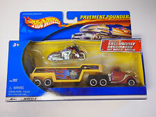 2001 HOT WHEELS PAVEMENT POUNDERS MUSCLE BIKE DUNCANS MOTORCYCLES SEMI TRUCK NEW
