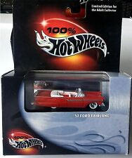 1957 FORD FAIRLANE CONVERTIBLE, Red Classic, Hot Wheels, 1:64, NEW in Box!