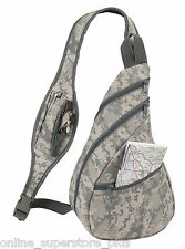 Camo Sling Backpack Small Fishing Hunting Camouflage Bag Single Strap