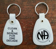 NARCOTICS ANONYMOUS -  Lot Of 10 - GRANITE 1 DECADE + KEY TAG - 10+ yr recovery