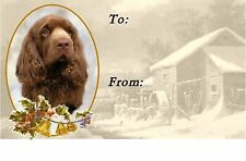 Sussex Spaniel Christmas Labels by Starprint