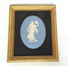 Framed  Wedgwood Dancing Hours Plaque - Blue Jasperware