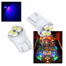 10x #555 T10 4 SMD LED Pinball Machine Light Bulb Purple (Pink) AC/ DC 6.3V