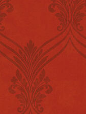 Rusty Red Chandelier Swag Damask with Flowing Scroll Wallpaper  SD25683