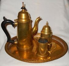Vintage Brass Tea Service    India    Set Of 4 Pieces    Marked    L@@K !!!